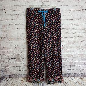 Vera Bradley Paisley Button Fly Lounge Pants